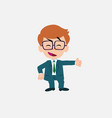 businessman with glasses showing something in an vector image