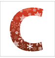 C Letter vector image vector image