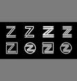 capital letter z modern set for monograms logos vector image vector image
