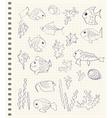 Cartoon sea fish vector image vector image