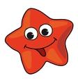 Cartoon starfish vector image vector image