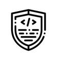 coding antivirus program thin line icon vector image