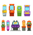 colored games machines vector image vector image