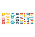 colorful ribbon banners set ribbons banners vector image vector image