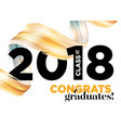 congratulations graduates class of 2018 logo vector image vector image