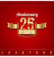 Decorative golden emblem of anniversary vector image vector image