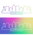 durham skyline colorful linear style editable vector image vector image