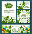 easter floral greeting card and banner template vector image vector image