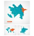 editable template map azerbaijan with marks