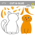 education game for children cat use scissors and vector image vector image