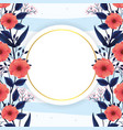 exotic flowers plants with circle label vector image