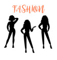 fashion woman silhouette in casual clothes vector image vector image