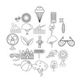 forest holidays icons set outline style vector image vector image