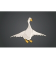 Graphical goose vector image vector image