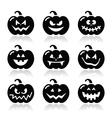 Halloween pumkin icons set vector image vector image
