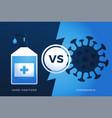 hand sanitizer gel antivirus vs or versus vector image vector image