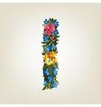I letter Flower capital alphabet Colorful font vector image vector image
