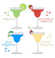 icon logo for set alcohol cocktails vector image