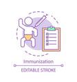 immunization concept icon vector image vector image