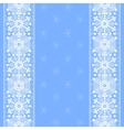 lace snowflakes pattern border vector image vector image