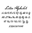 latin alphabet classical calligraphy and lettering vector image vector image