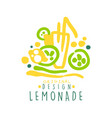 lemonade logo template original design colorful vector image vector image