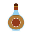 liquor bottle with blank label icon image vector image vector image