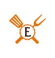 logo restaurant letter e vector image vector image