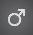 male sketch logo doodle icon vector image