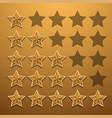modern star rating set background vector image
