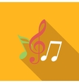 Music flat icon vector image vector image