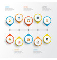 music flat icons set collection of ear muffs vector image vector image