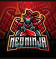 neo ninja esport mascot logo design vector image vector image