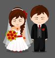 newlyweds vector image vector image