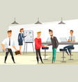 office workers at workplace vector image