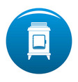 old oven icon blue vector image vector image