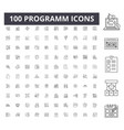 Programm line icons signs set outline