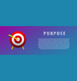 purpose the arrow in the target vector image