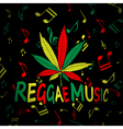 Reggae Music Cannabis vector image vector image