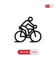 ride a bicycle icon vector image
