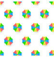 seamless pattern with sun umbrellas isolated on vector image