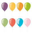 set of flat celebration balloons vector image