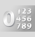 set of numbers in paper style vector image