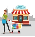 Shopping design commerce icon Colorful design vector image vector image