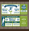 soccer party invites vector image vector image