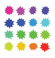 starburst explosion color comic shapes cartoon vector image vector image