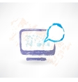 Talking monitor with bubble screen Brush icon vector image vector image