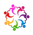 teamwork people holding hands icon vector image vector image