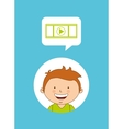 technological kids vector image vector image