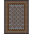 The pattern for carpet in brown and blue shades vector image vector image